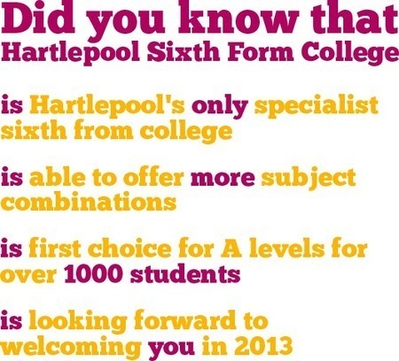 Hartlepool Sixth Form College - A Level, BTEC and Foundation Degree Provider | Hartlepool | Scoop.it