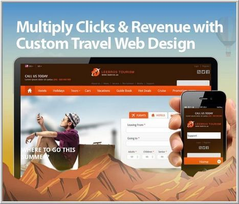 Get Multiplied Clicks with Custom Travel Web Design | Travel Site Features | Scoop.it