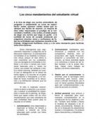 Los Cinco Mandamientos Del Estudiante Virtual | Educación a Distancia y TIC | Scoop.it