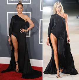Jennifer Lopez Channels Angelina Jolie At 2013 Grammy Awards | Red Carpet Looks | Scoop.it