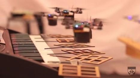 Mini quadrotors play Bond, James Bond (video) | Disruptive Nostalgia in Education UK | Scoop.it