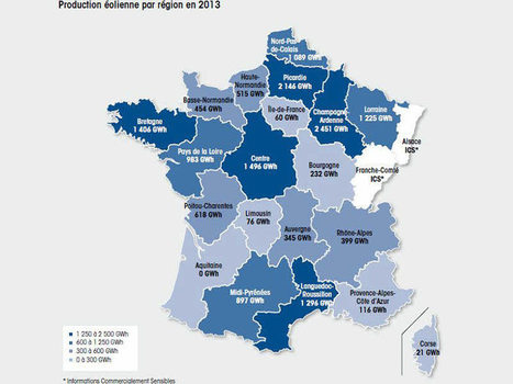 La carte de la production éolienne par région (infographie) | JOIN SCOOP.IT AND FOLLOW ME ON SCOOP.IT | Scoop.it
