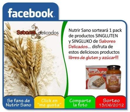 Nutrir Sano: Concurso Facebook - pack de SINGLUKO y SINGLUTEN | Gluten free! | Scoop.it