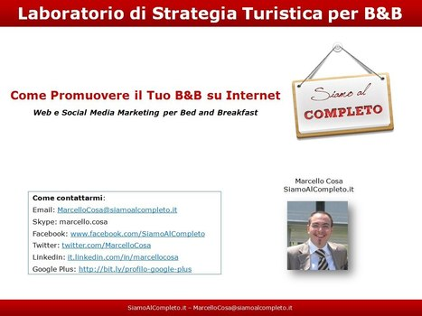 Laboratorio di Strategia Turistica per B&B | Come Promuovere il Tuo B&B su Internet | Pubblicizzare un B&B sui Social Network | Scoop.it