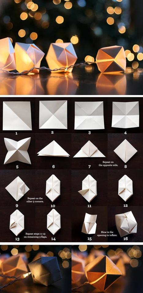 Luces en cubos de papel en Manualidades para decorar y detalles de decoración del hogar, fiestas y eventos | Con tus propias manos - Lola | Scoop.it