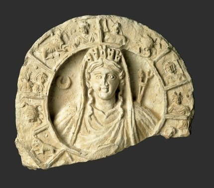 Roundel with bust of Atargatis-Tyche and Zodiac | Roma Antiqua | Scoop.it