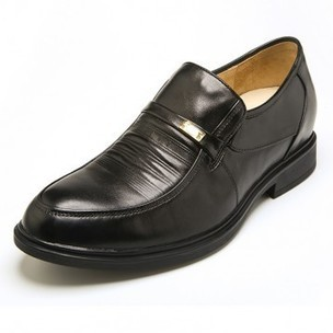 Europe black leather elevator slip on formal shoes add taller 5.5cm / 2.17 inch on sale at topoutshoes.com | Elevator Casual shoes men height increasing Taller | Scoop.it