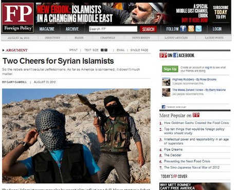 """Two Cheers"" for Terrorism: #US Mainstream #Media Applauds #Syria's Al Qaeda Rebels 