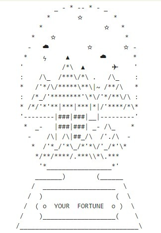 Booting up, what else goes in the snow globe? • /r/asciiart | ASCII Art | Scoop.it