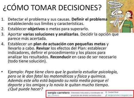 ¿Cómo tomar decisiones? /// Píldoras para orientar | Scoop-it-Ajos educativos | Scoop.it