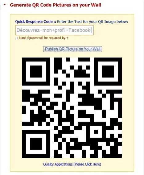 Créer un code QR à partir de votre profil Facebook   Le Top des Applications Web et Logiciels Gratuits   Scoop.it