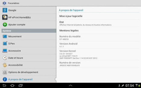 Jelly Bean officiellement disponible sur Samsung Galaxy note 10.1 | Windows Mac Mobile Application | Scoop.it