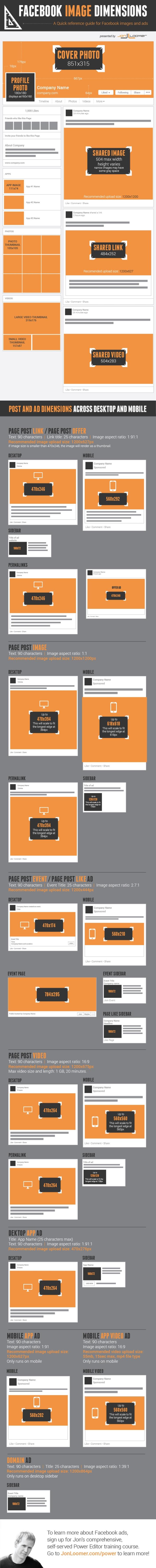 [Facebook] Guide complet des dimensions pour les nouvelles fan pages | TIC et TICE mais... en français | Scoop.it