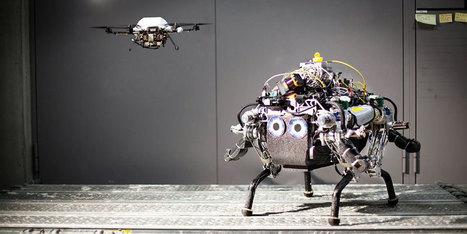 Démonstration d'une coopération entre un drone et un robot terrestre - Humanoides.fr (Blog) | 694028 | Scoop.it