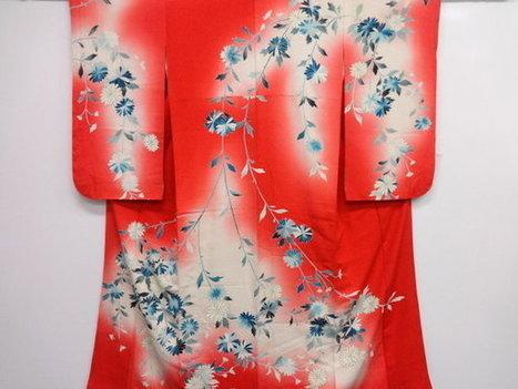 vends vintage kimonos japonais en soie à prix discount - paris-vente-veritables-estampes-objets-art-japon.overblog.com | estampes japonaises | Scoop.it