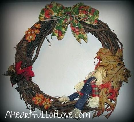 Quick and Easy Fall Wreath Tutorial - A Heart Full of Love | Crafty Stuff | Scoop.it