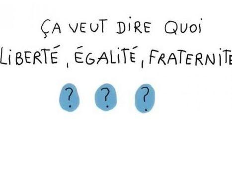 Ca veut dire quoi Liberté, Egalité, Fraternité ? - 1 jour, 1 question - francetv éducation   FLE enfants   Scoop.it