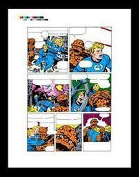 """Jack Kirby Fantastic Four #61 Rare Production Art Pg 20 