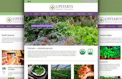 Upstarts Organic Seedlings Launches New Website | MBCFM | Permaculture, Horticulture, Homesteading, Bio-Remediation, & Green Tech | Scoop.it