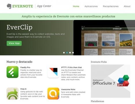 Este es el centro de aplicaciones de Evernote | Recursos interessants | Scoop.it