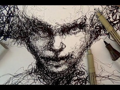 Pen and Ink Drawing Tutorials | Scribble portrait drawing demo | Pencil Drawing | Scoop.it