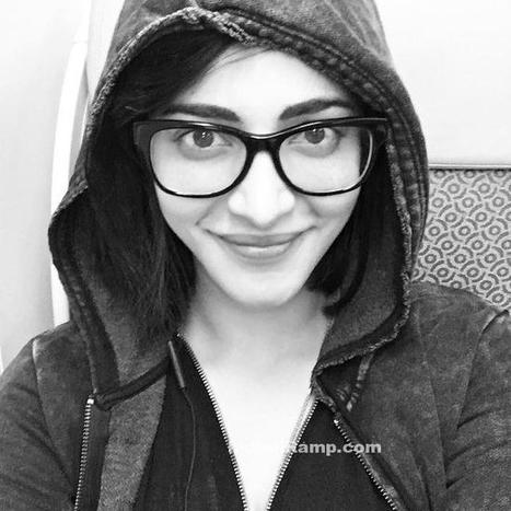 Shruti Haasan in a Nerdy Black and White Look @Singapore, Actress, Indian Fashion, Tollywood | Indian Fashion Updates | Scoop.it