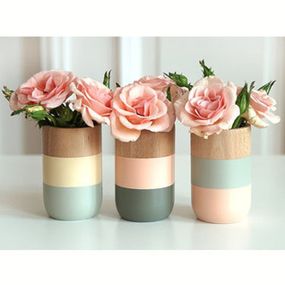 Gift Set - 3 Timber Painted Vases with Unique Gift Store   Unique Gift Store   Scoop.it