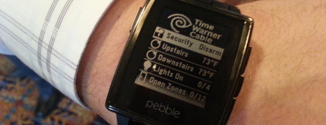 Here's what your smart home interface looks like on a Pebble watch - GigaOm | Smart Homes & Home Automation | Scoop.it