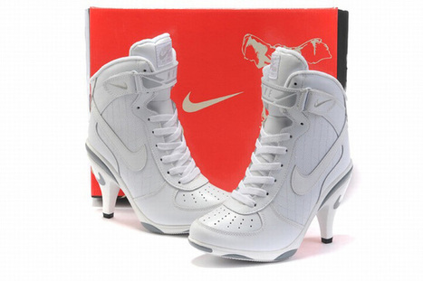 all white nike air force 1 high heels | fashion collection | Scoop.it