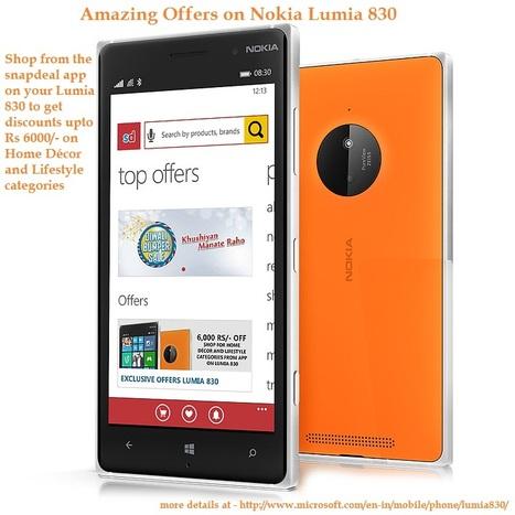 Amazing Offers on Nokia Lumia 830 | Latest Smartphones in India | Scoop.it