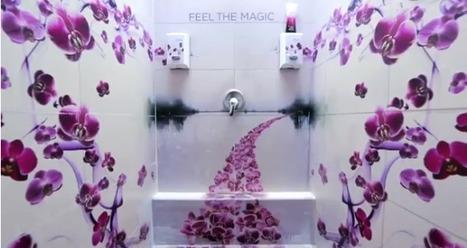 Une forêt d'orchidées tapisse les murs des douches publiques | streetmarketing | Scoop.it