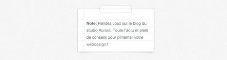 Post-it & Scotch Freebie ! | Graphiste Webdesigner Bordeaux - Aurora Studio | From The Blog | Scoop.it