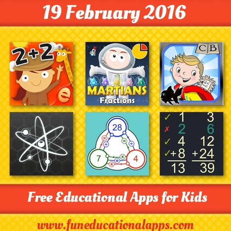 Best Free Friday Apps for kids and Education - February 19 - Fun Educational Apps for Kids   Daily Free Kids Apps   Scoop.it