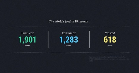 Alimentation : ce que nous produisons, consommons et jetons (worldfoodclock) - Yes I Will | News from net | Scoop.it
