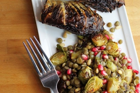 Warm Lentil and Brussels Sprout Salad With Roasted Radicchio Wedges [Vegan, Gluten-Free] | Healthy Living Lifestyle | Scoop.it