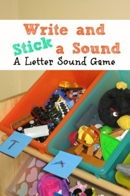 Write and Stick a Sound - I Can Teach My Child! | Learn through Play - pre-K | Scoop.it
