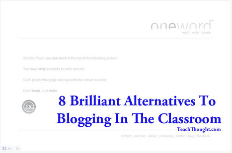 8 Brilliant Alternatives To Blogging In The Classroom | Educational Technology in Higher Education | Scoop.it