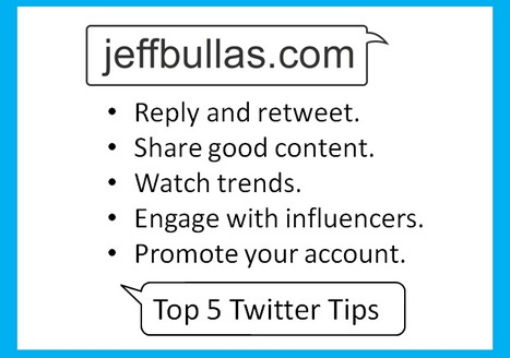 Top Five Twitter Management Tips to Increase Your Followers Organically | Jeff Bullas | PD & Articles | Scoop.it