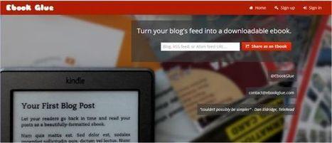 eBook Glue – convierte los contenidos de los canales RSS y Atom en libros electrónicos | Recull diari | Scoop.it