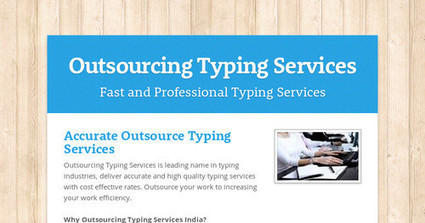 Outsourcing Typing Services | Typing Services | Scoop.it