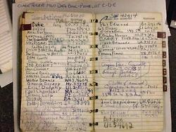 Trumpeter Clark Terry's phonebook listing names C,... | Trumpet | Scoop.it
