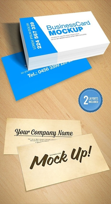 20 Professional Free Business Card Templates and Mockups | webdesign and technologies | Scoop.it