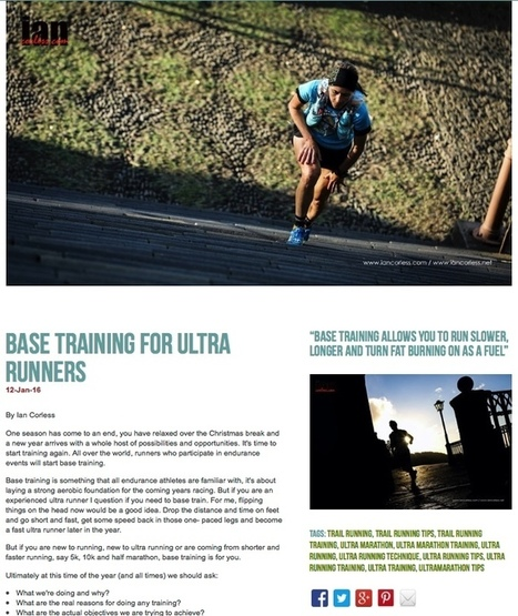 BASE TRAINING for Ultra Running | Deporte y monte | Scoop.it