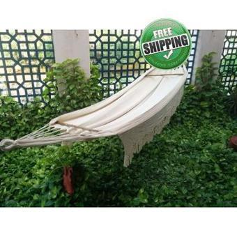 Double Size Natural Fabric Mexican Hammock with Crochet - Buy online | Hammocks in India | Scoop.it
