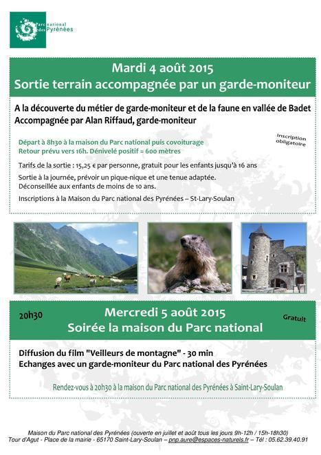 Rencontre avec le Parc national des Pyrénées à Saint-Lary le 5 août | Vallée d'Aure - Pyrénées | Scoop.it