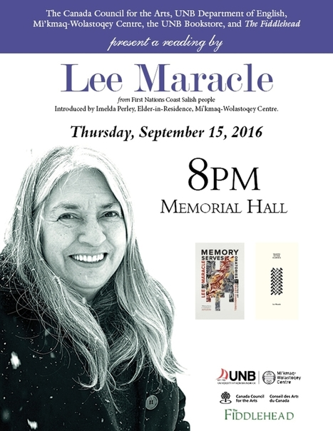 UNB Reading Series Presents Lee Maracle, September 15 at 8 pm | Frond and Spore | AboriginalLinks LiensAutochtones | Scoop.it