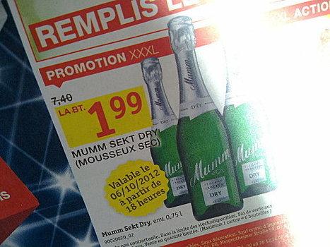 Du Mumm à 1,99€ ! | Articles Vins | Scoop.it