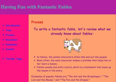 Having Fun with Fantastic Fables: Process | Edtech PK-12 | Scoop.it