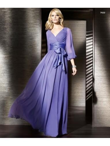 Beading Chiffon A-line V-neck Floor Length Purple Mother of The Bride Dress WBD0008 - Prom Dress Online Shop | prom dress | Scoop.it