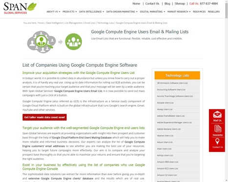 Buy Google Compute Engine Customer Lists from Span Global Services | Span Global Services | Scoop.it